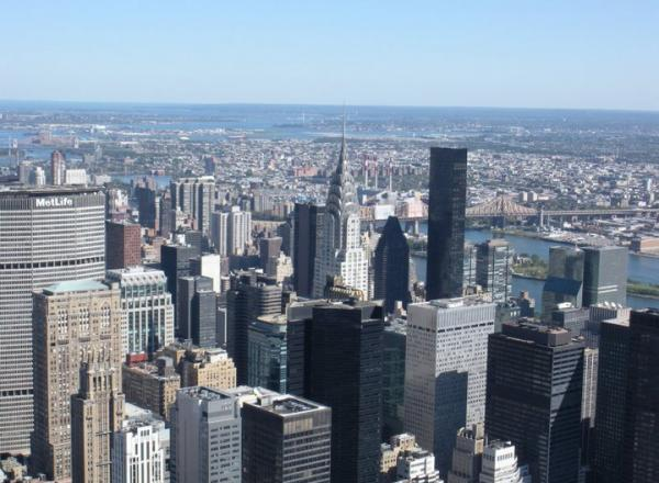 Uitzicht vanaf Empire State Building (Chrysler Building)
