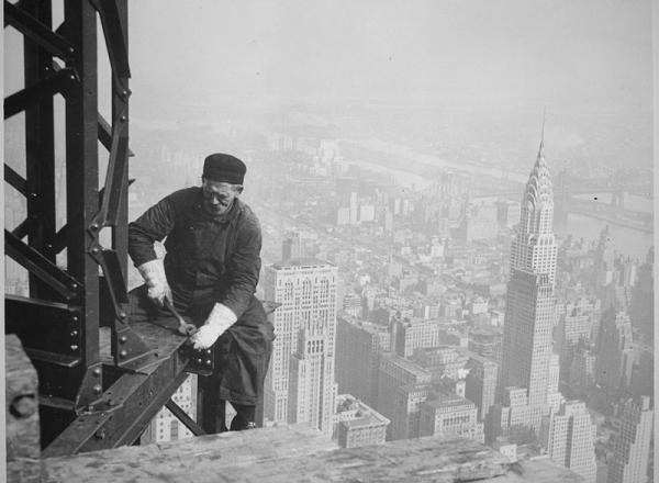 Bouw van Empire State Building New York